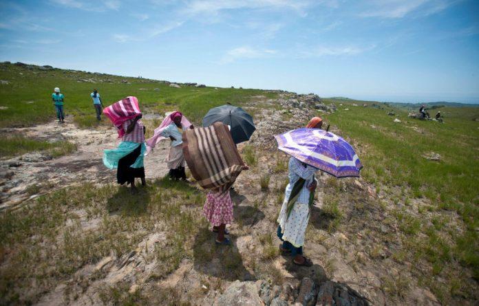 Xolobeni community members in Eastern Cape.