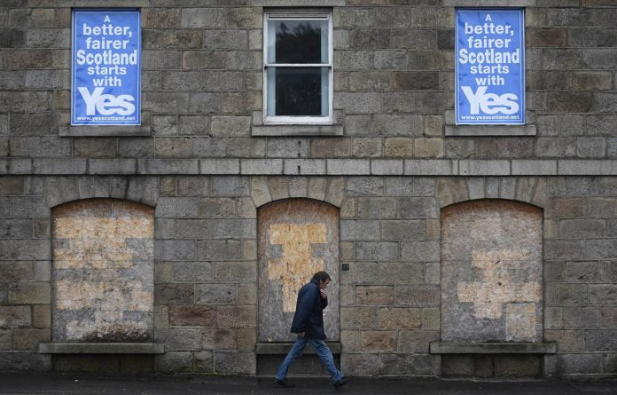 The Scottish yes campaign has buoyed Catalonian separatists.