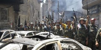 Syrian regime forces have routed rebel fighters from the Damascus neighbourhood of Midan.
