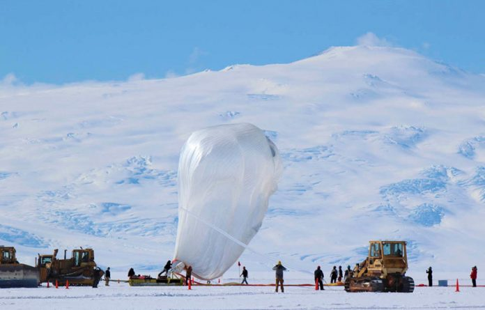 The Spider balloon sailed about 35km above Antarctica for 16 days to collect data that will help scientists determine what happened immediately after the Big Bang.