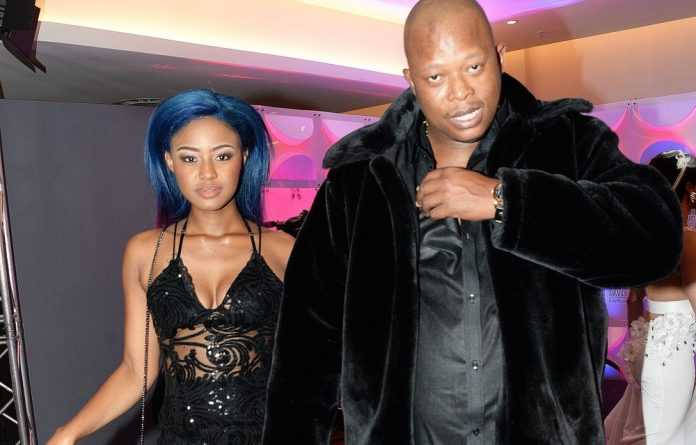 Babes Wodumo and Mampintsha during the 23rd annual South African Music Awards ] ceremony at Sun City on May 27 2017.