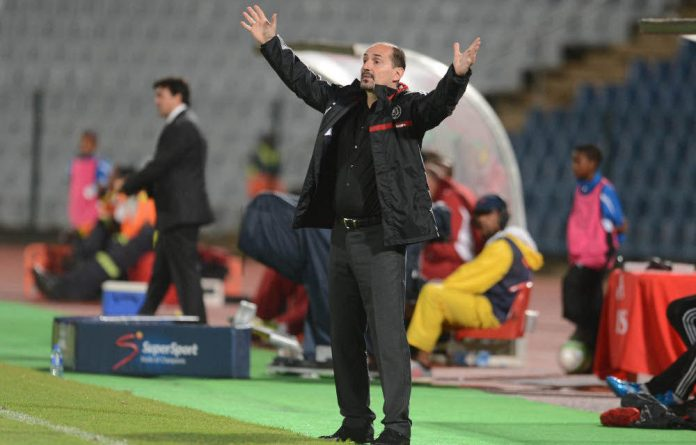 Disgruntled supporters pelted Orlando Pirates coach Vladimir Vermezovic with various objects after the team suffered their fourth loss of the season.