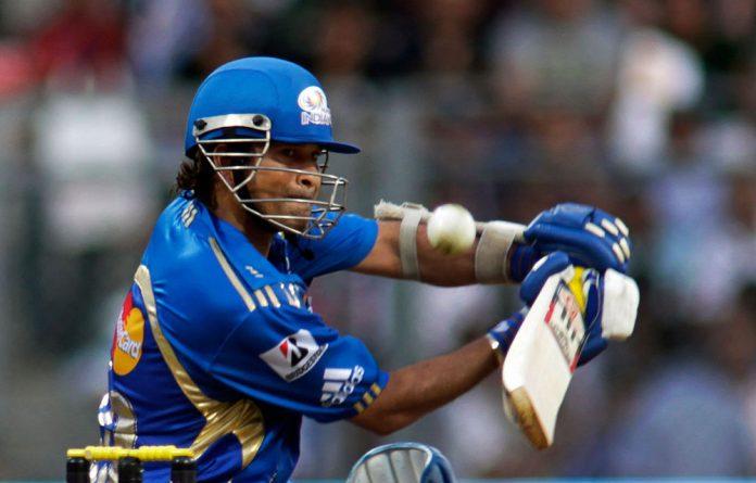 Mumbai Indians' Sachin Tendulkar bats against Chennai Super Kings during an Indian Premier League cricket match in Mumbai