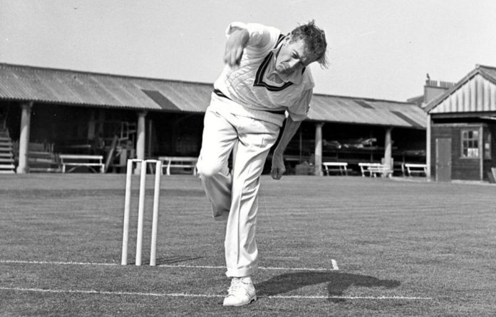 Politics and pace: 1950s seamer Neil Adcock.