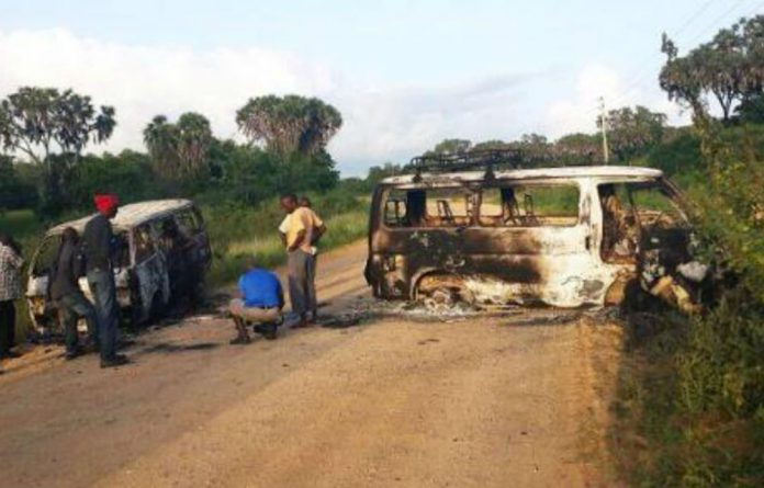 At least 20 vehicles and several buildings were torched during the attack in Mpeketoni.
