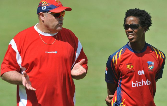 Highveld Lions head coach Dave Nosworthy.