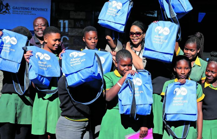 There are organisations dedicated to manufacturing and supplying free sanitary towels to female learners who are unable to afford them