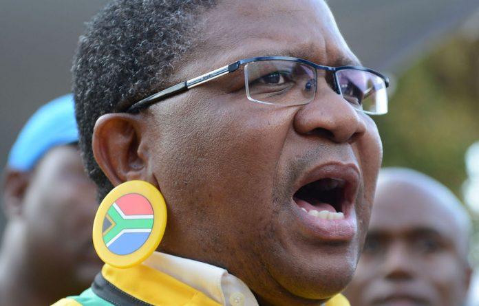 Sports Minister Fikile Mbalula. 9AFP)