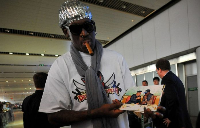 Kim and Rodman spent quality time together by having dinner and watching a basketball game during Rodman's five-day trip.