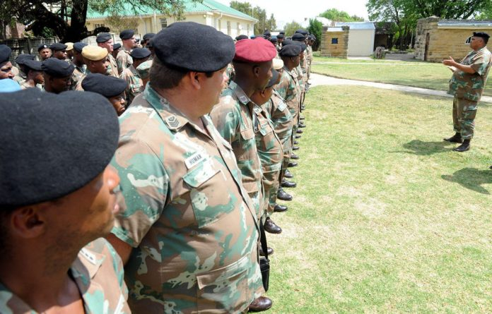 South African Defence Force soldiers have been warned to slim down.
