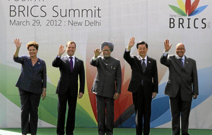 Members at the Brics summit in New Delhi in March.