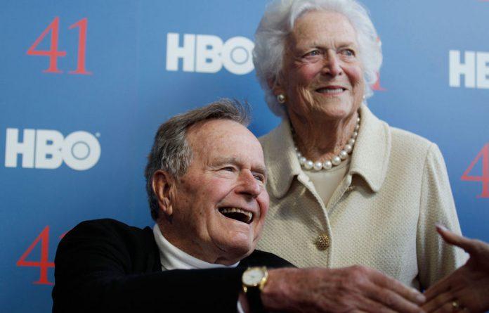 Former US president George HW Bush Snr.
