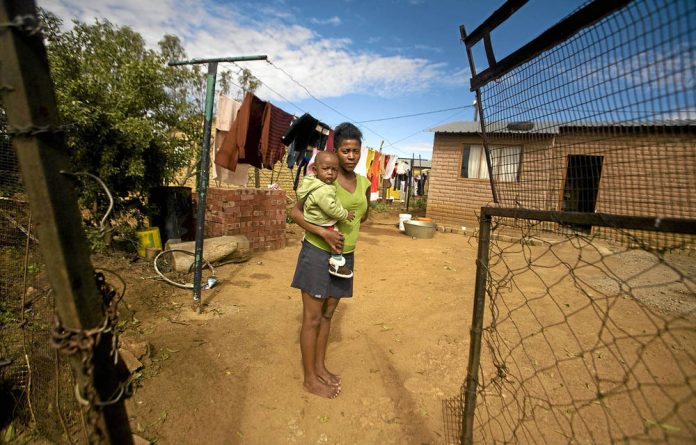 For people like unemployed mother Palesa Motsamayi it is difficult to get credit such as mortgages because they do not hold the title deeds to their homes.