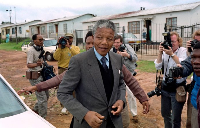 The world's media gathered in Soweto in February 1990 for the return of Nelson Mandela to his Vilakazi Street home.