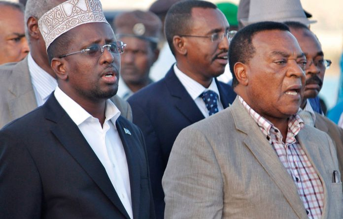 Somalia's president of the now expired Transitional Federal Government Sheikh Sharif Sheikh Ahmed