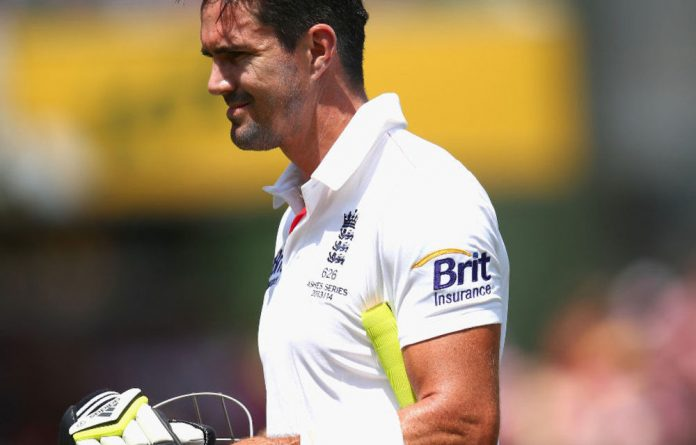 England's Kevin Pietersen after being dismissed by Ryan Harris of Australia during day three of the Fifth Ashes Test match on January 5 2014.