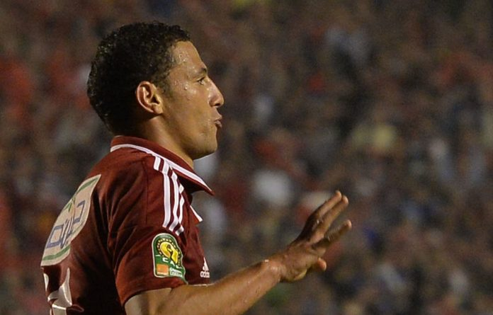 Al-Ahly player Ahmed Abdel Zaher has landed in trouble for making the four-fingered Islamist salute.