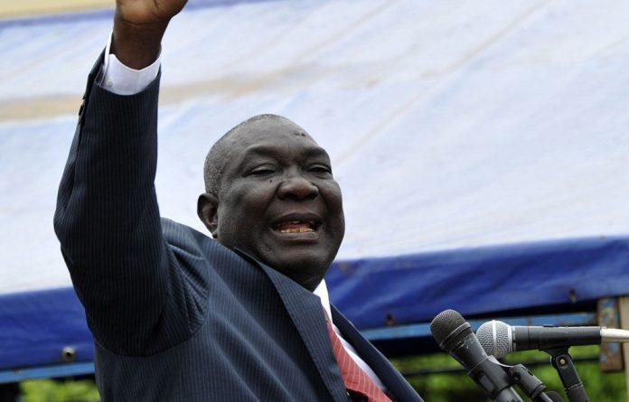 Central African Republic interim president and Seleka rebel leader Michel Djotodia.