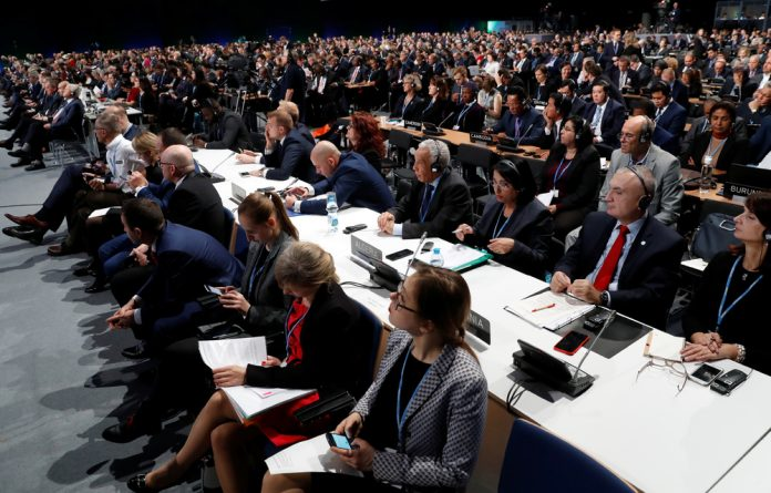Delegates attend the opening of COP24 UN Climate Change Conference 2018 in Katowice