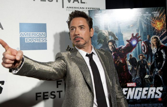 Robert Downey Jr at the screening of 'The Avengers' in New York in 2012.