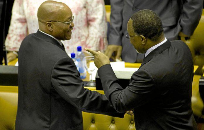 Deputy President Kgalema Motlanthe with President Jacob Zuma.