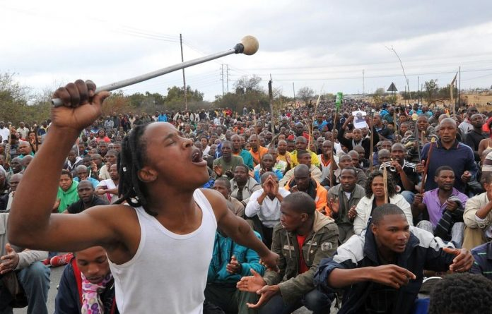 Marikana workers are demanding R12 500 a month.