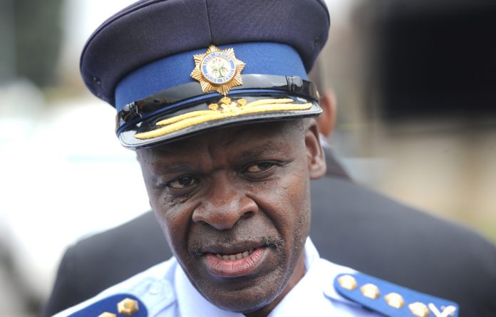 National police commissioner Lieutenant General Khehla Sitole.
