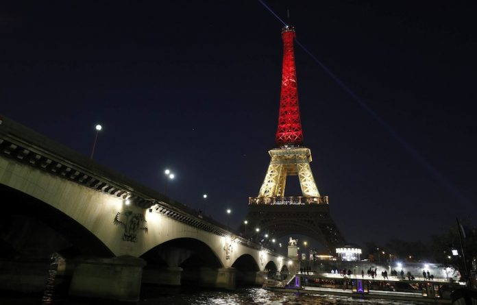 Solidarity: The Eiffel Tower in Paris is lit up in the black
