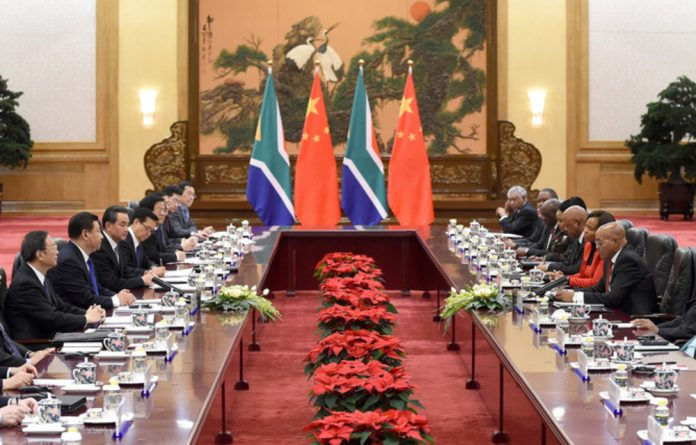 The Chinese and South African governments