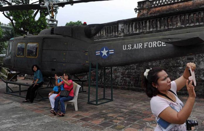 The business of war: Tourists flock to Vietnam's Army Museum in Hanoi.