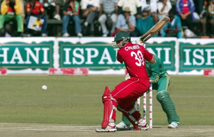 Zimbabwe's batsman Graham Cremer in action during the second match between Zimbabwe and South Africa in the Twenty20 tri-nations cricket tournament at Harare Sports Club. Photo