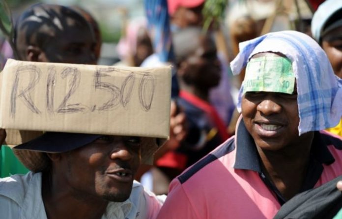 Amcu's basic pay demand remains at R12500 a month.