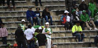 Empty stands: Bloemfontein Celtic fans