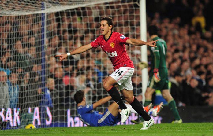 Manchester United's striker Javier Hernandez.