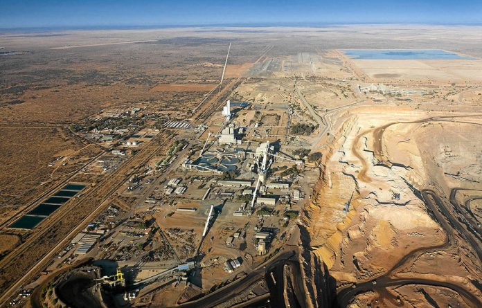 Diamond mines in Botswana. South Africa's neighbour