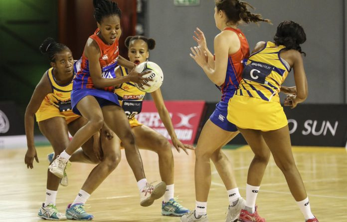 On the ball: Members of the Baobabs and the Sunbirds