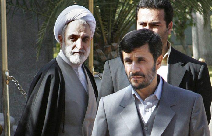 Iran's chief prosecutor Gholam-Hossein Mohseni-Ejei with President Mahmoud Ahmadinejad.