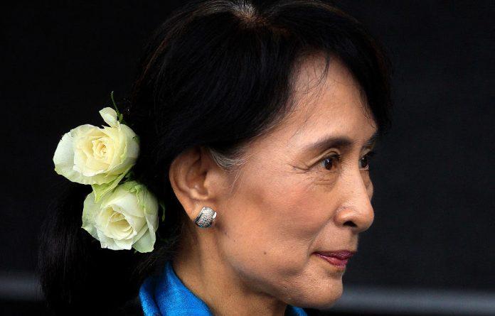Myanmar's leader Aung San Suu Ky