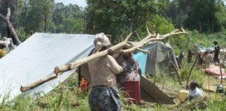 Homeless families in the Mavuno IDP camp near Lamu on June 21