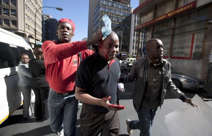 Violent clashes between Cosatu members and Democratic Alliance marchers could backfire on both parties' attempt to garner public sympathy.