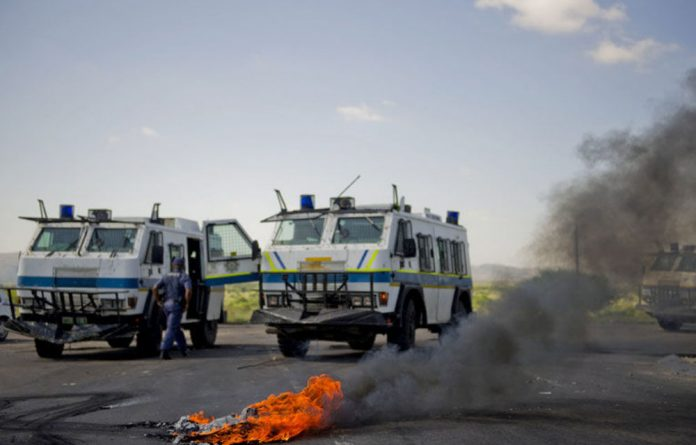 Three people died this week in confrontations with police following a service delivery protest over water.