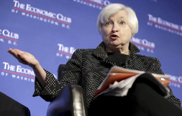 US Federal Reserve chairperson Janet Yellen.