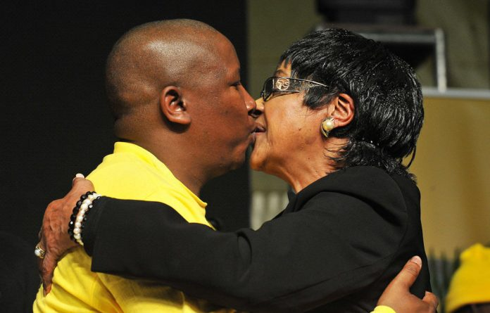 Winnie Madikizela-Mandela and Julius Malema.