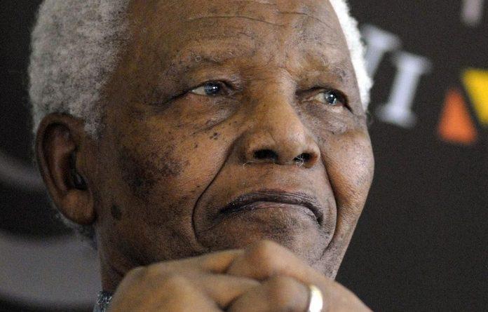 Former president Nelson Mandela.