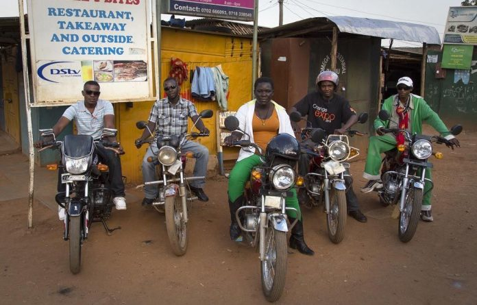 Naume Awero is the only female bodaboda driver in Kampala.