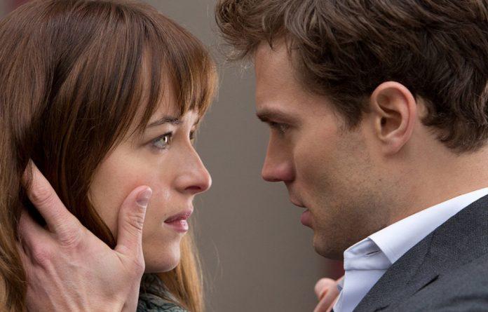 A grey area: Dakota Johnson and Jamie Dornan in Fifty Shades of Grey.