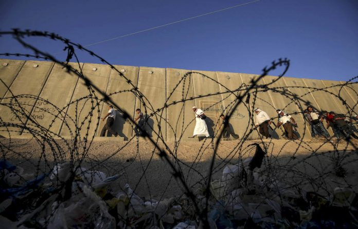 The wall built by the Israeli government is used not just to imprison Palestinians but also cut Palestinians off from water supplies.