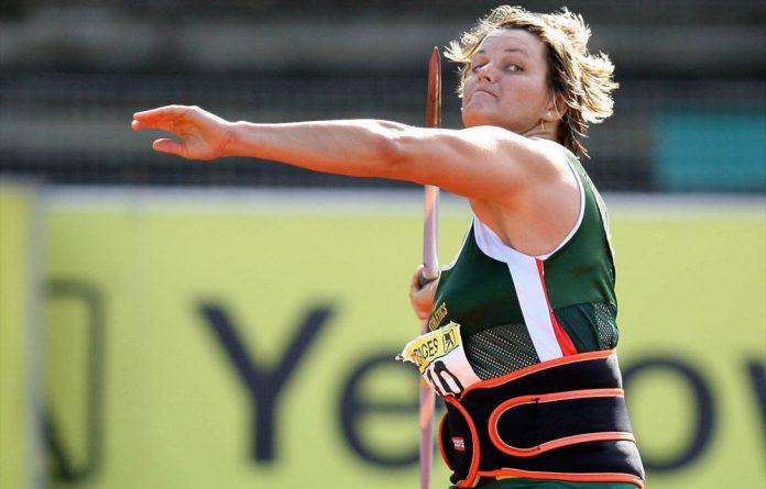 South African javelin champ Sunette Viljoen.