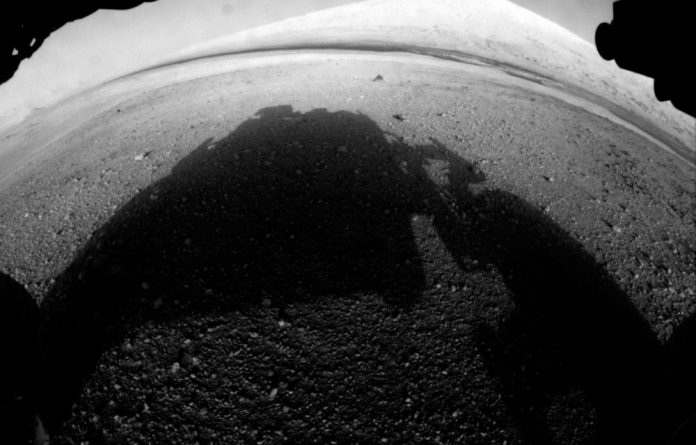 This image from Curiosity shows what lies ahead for the rover - its main science target