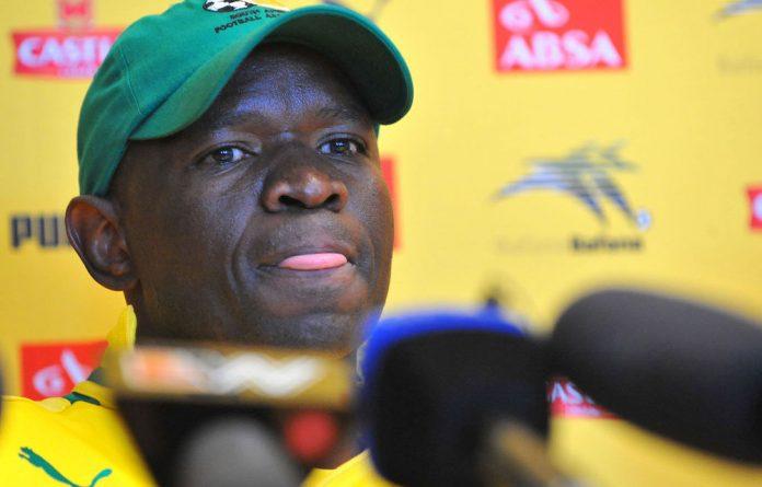 Bafana Bafana's interim coach Steve Komphela.